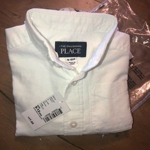 The Children's Place boys 9-12 months white shirt